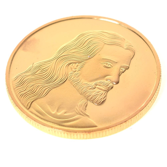 New Gold Jesus Anonymous Mint Bitcoin Commemorative Coins Collection Art Gifts 1